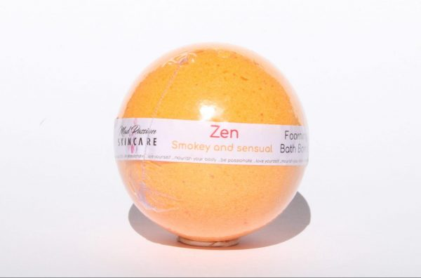 "<span style=""font-weight: 400;"">Sit back and relax with this orange ball of beauty. You can emerge from your bath with a Zen outlook on life and a slight shimmer from the touch of biodegradable glitter added. It has a citrus yet earthy feel by combining patchouli, dragon's blood, lavender, fir, orange and cashmere musk. </span>